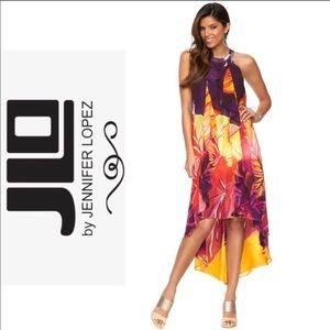 Jennifer Lopez Floral Hi-Low Dress Size M